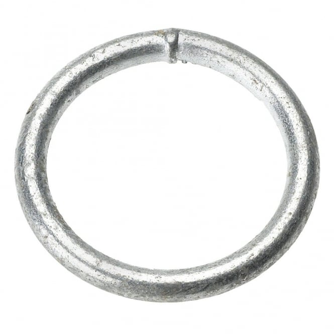 Eliza Tinsley 50 x 8mm Galvanised M.S. Welded Rings (Box of 20)