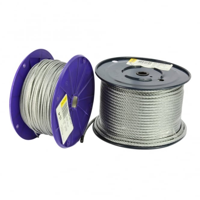 Eliza Tinsley 5mm Galvanised Wire Rope Reel of 76 meters