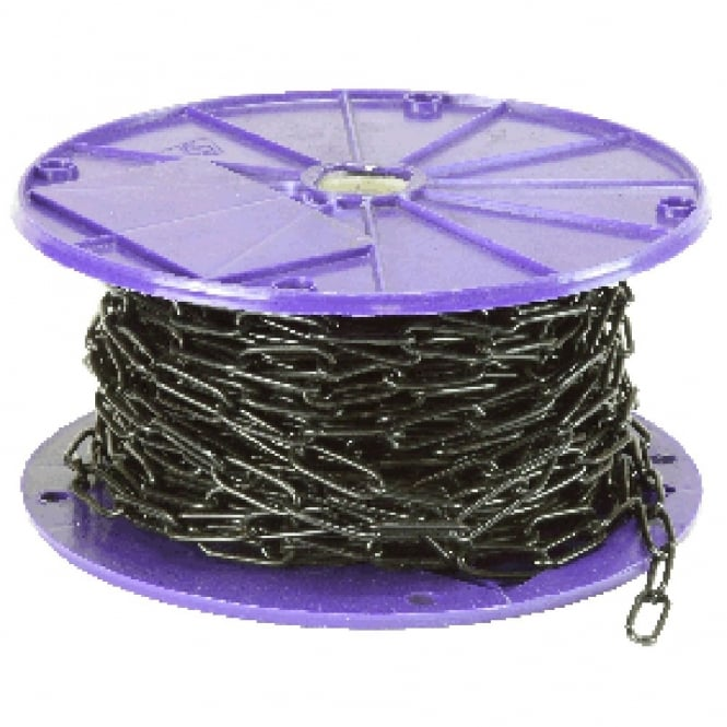 Eliza Tinsley 6.5mm Black Long Link Welded Chain Reel -15m