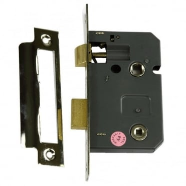 63mm Electro Brass EZR Bathroom Mortise Lock (Pack of 10)