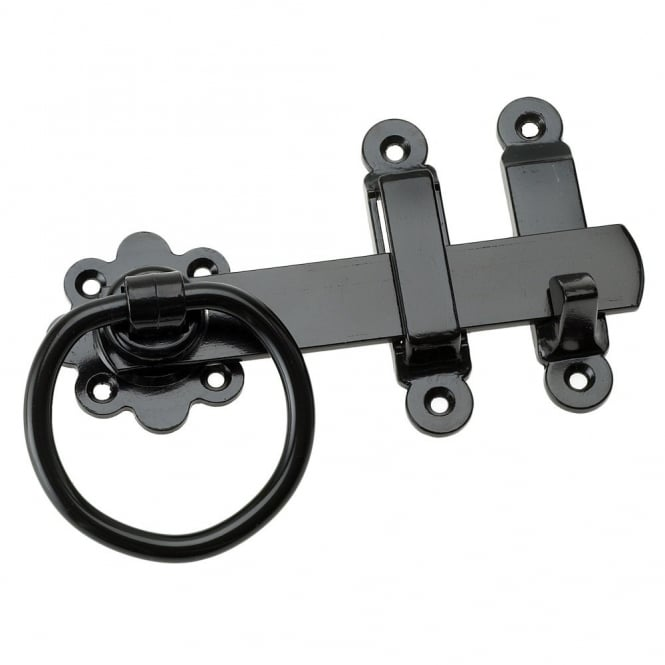 Eliza Tinsley 6inch Black Ring Gate Latches (Box of 5)