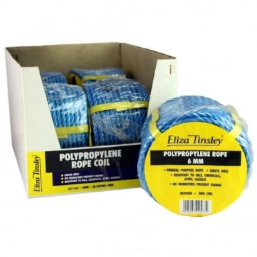 6mm Blue Polypropylene Rope 30m Coil (Box of 5)