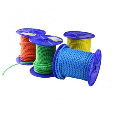 6mm Blue Polypropylene Rope 4inch Reel - 60m