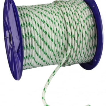 6mm Green Flck Super Polyester Braid Rope - 125m