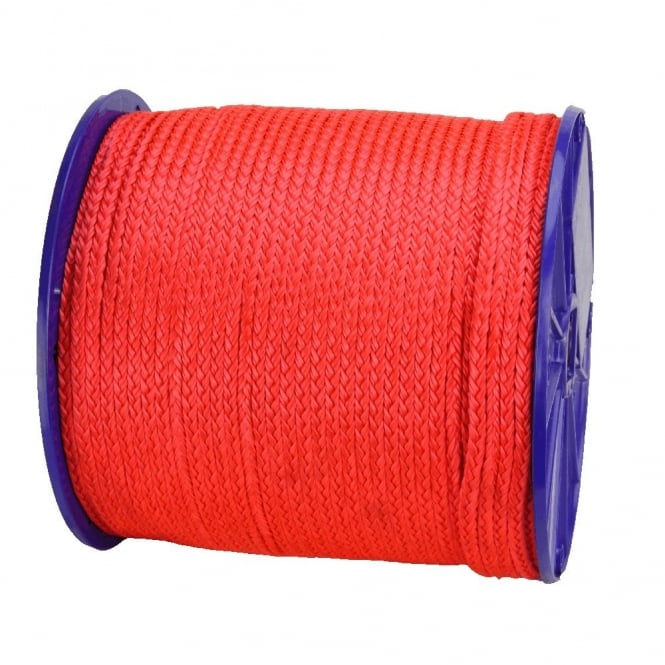 Eliza Tinsley 6mm Red Polypropylene Cord Braided 170m Reel