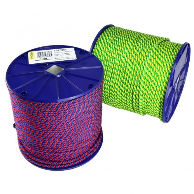 Eliza Tinsley 6mm Yell/Green Spiral Polypropylene Rope Reel of 178m