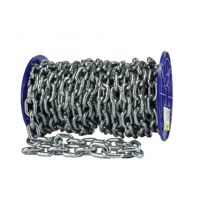 Eliza Tinsley 8.5mm Bright Zinc Plated (BZP) Proof Coil Chain 12M/Reel