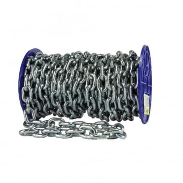 8.5mm Bright Zinc Plated (BZP) Proof Coil Chain 12M/Reel