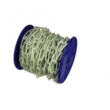 8 x 62mm White Polythene Chain Reel 12m