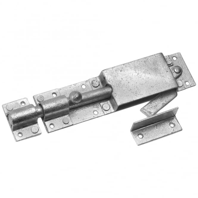 Eliza Tinsley 8inch Galvanised Auto Lock Pig Bolts Box (Box of 5)