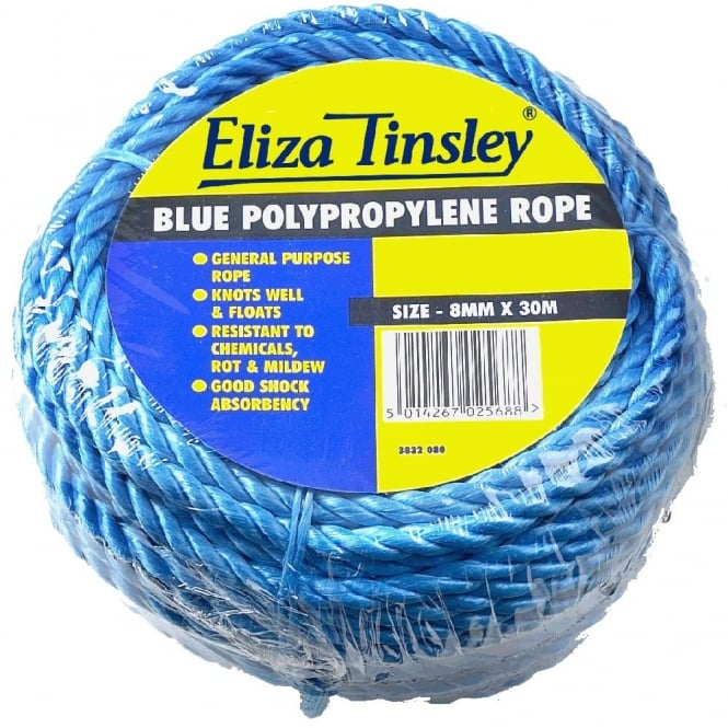 Eliza Tinsley 8mm Blue Polypropylene Rope - 30m