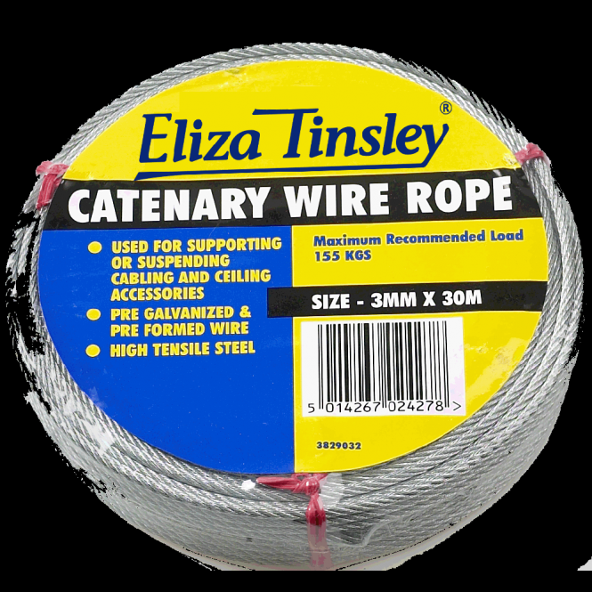 Eliza Tinsley Galvanised Catenary Wire - 100m Coil
