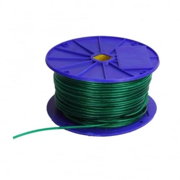 Green Gloss Wire Centre Washing Line 4inch Reel