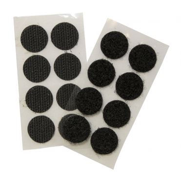 GRIPTITE Stick on Coins - Black - 16mm - (Bag of 12 Packs)