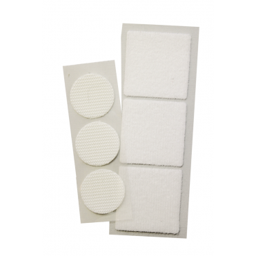 GRIPTITE White Removable Adhesive Coins/Squares (Box of 12)