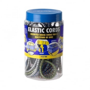 Shock Cord Jar of Assorted Cords (Box of 6 Jars)