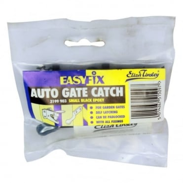 Small Black Auto Gate Catch Wallet
