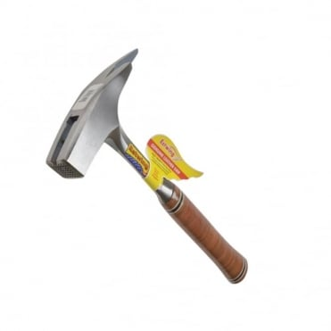E239MM Roofers Pick Hammer Milled Face - Leather Grip