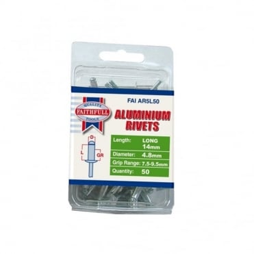 Aluminium Rivets 5mm Long Pre-Pack of 50