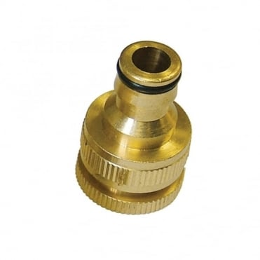 Brass Dual Tap Connector 1/2in & 3/4in