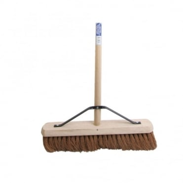 Broom Soft Coco 45cm (18 in) + Handle & Stay