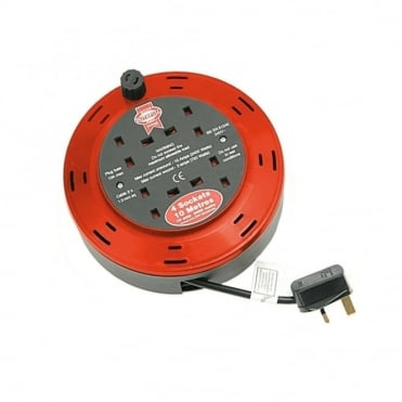 Cable Reel 230 Volt 10 Metre 10 Amp 4 Socket