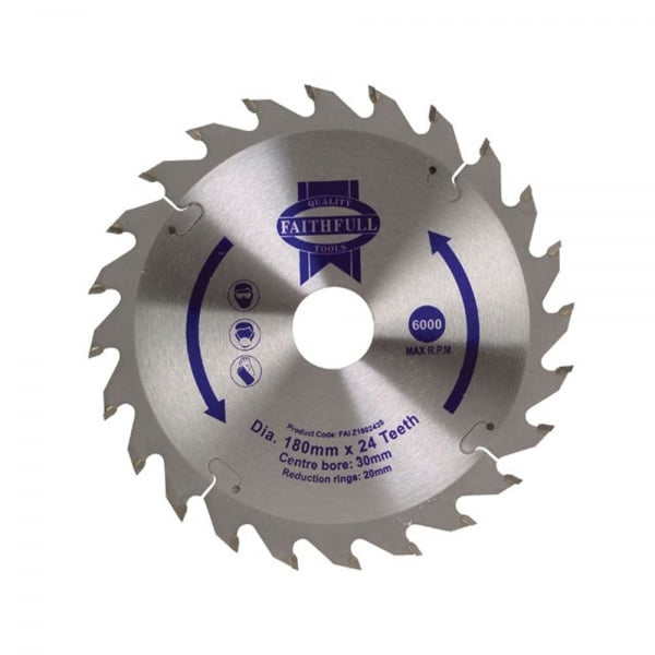 Circular Saw Blade Tct 180 X 30 20 X 24t Pos