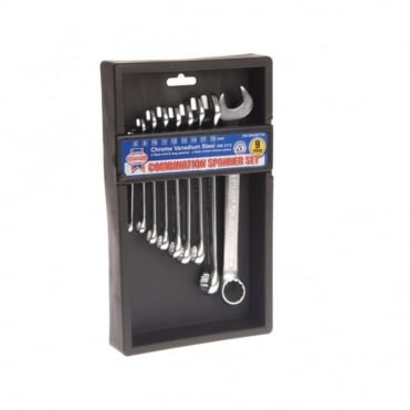 Combination Spanner CV Set 9 Piece 6-19mm