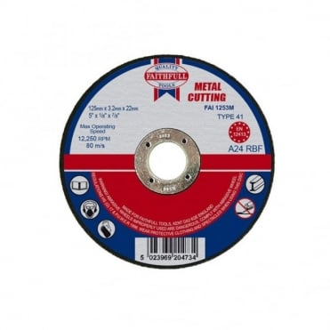 Cut Off Disc for Metal 125 x 3.2 x 22mm