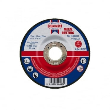Cut Off Disc for Metal Depressed Centre 115 x 3.2mm x 22mm