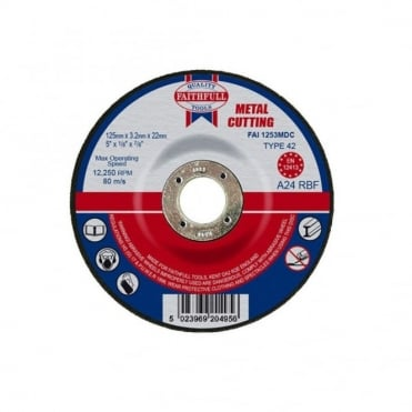 Cut Off Disc for Metal Depressed Centre 125 x 3.2 x 22mm