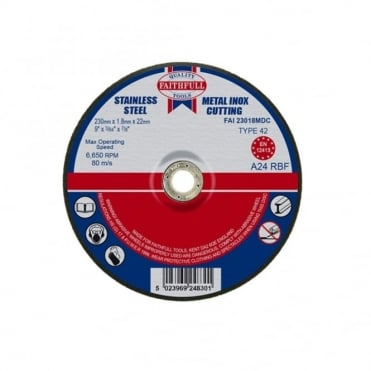 Cut Off Disc for Metal Depressed Centre 230 x 1.8 x 22mm