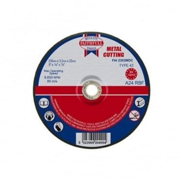Cut Off Disc for Metal Depressed Centre 230 x 3.2 x 22mm