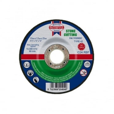 Cut Off Disc for Stone Depressed Centre 115 x 3.2 x 22mm