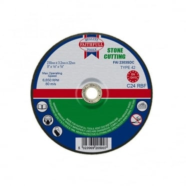 Cut Off Disc for Stone Depressed Centre 230 x 3.2 x 22mm