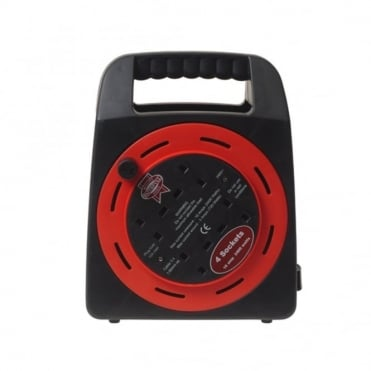 Easy Reel Cable Reel 20 Metre 10 Amp With 4 Socket 240 Volt