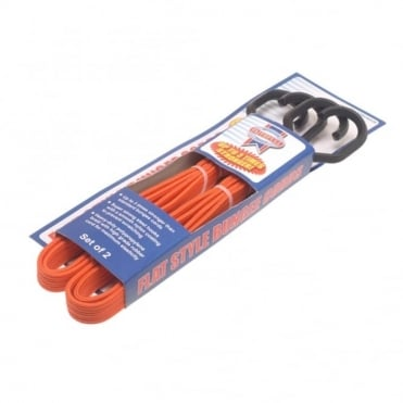 Flat Bungee Cord 76cm (30in) Orange
