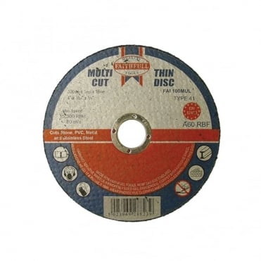 Multi Cut Thin Cut Off Wheel 100mm x 1.0 x 16 Pack of 10