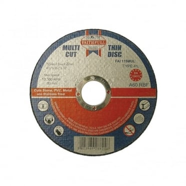 Multi Cut Thin Cut Off Wheel 115mm x 1.0 x 22 Pack of 10