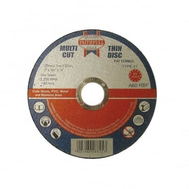 Multi Cut Thin Cut Off Wheel 125mm x 1.0 x 22 Pack of 10