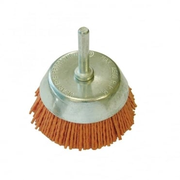 Nylon Wheels Cup Brush 65 x 6mm Shank