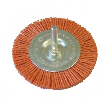 Nylon Wheels Flat 100 x 6mm Shank
