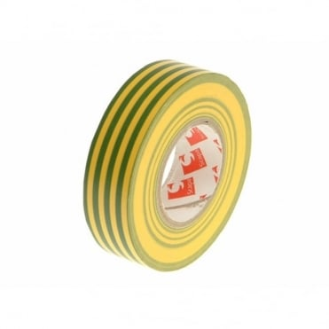 PVC Electrical Tape 19mm x 20m Green / Yellow