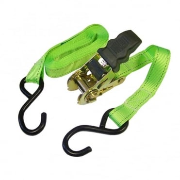 Ratchet Tie Downs (2) 5m x 25mm Breaking Strain 818Kg