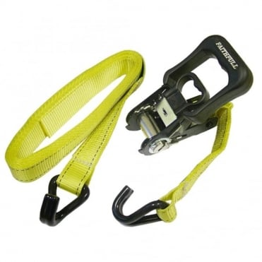 Ratchet Tie Downs (2) 5m x 32mm Breaking Strain 2000Kg