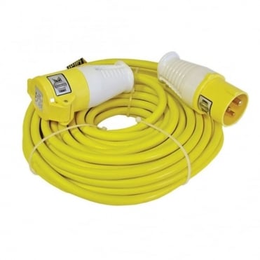 Trailing Lead 14 Metre 16 Amp 2.5mm Cable 110 Volt