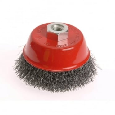 Wire Cup Brush 100 x M14 x 2 Stainless Steel 0.30mm