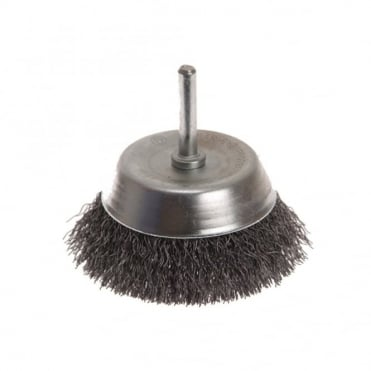 Wire Cup Brush 75 x 6mm Shank 0.30mm