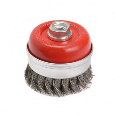Wire Cup Brush Twist Knot 65mm x M10 x 1.25 0.50mm