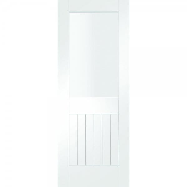 Internal White Primed Suffolk 1l With Clear Glass Door